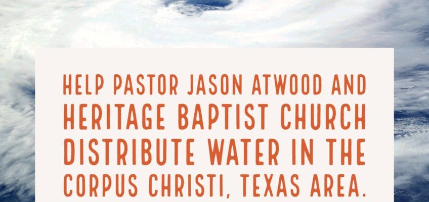 Help Pastor Jason Atwood distribute water